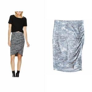 Aritzia Wilfred Free Tyra skirt grey pink size XS